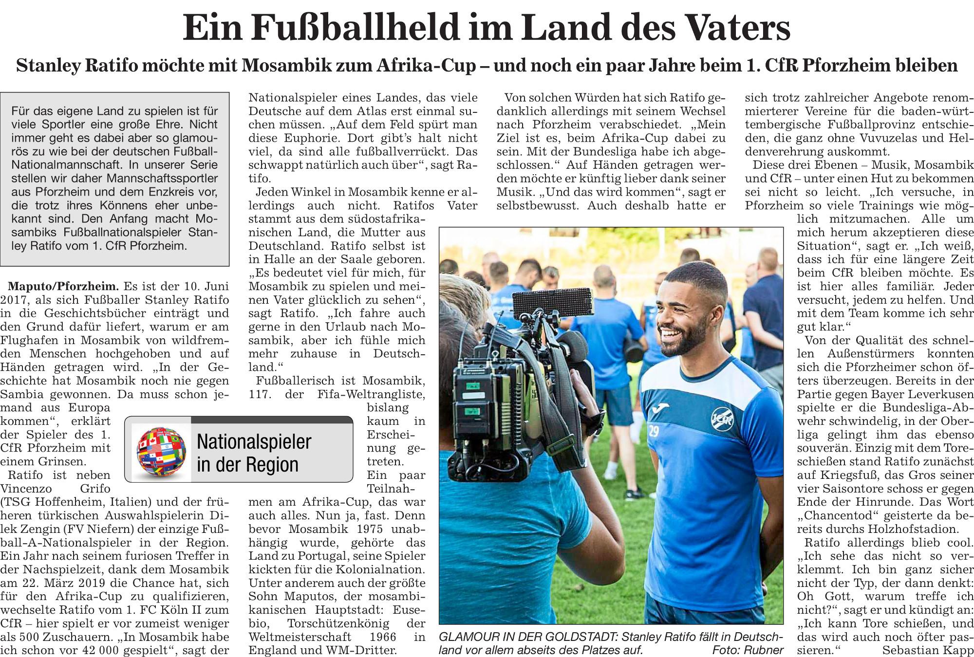 Stanley Ratifo: Ein Fußballheld im Land des Vaters