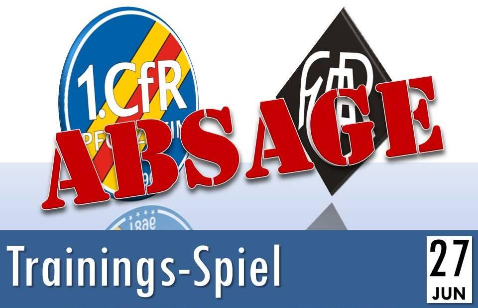 Testspiel gegen Ludwigshafen abgesagt