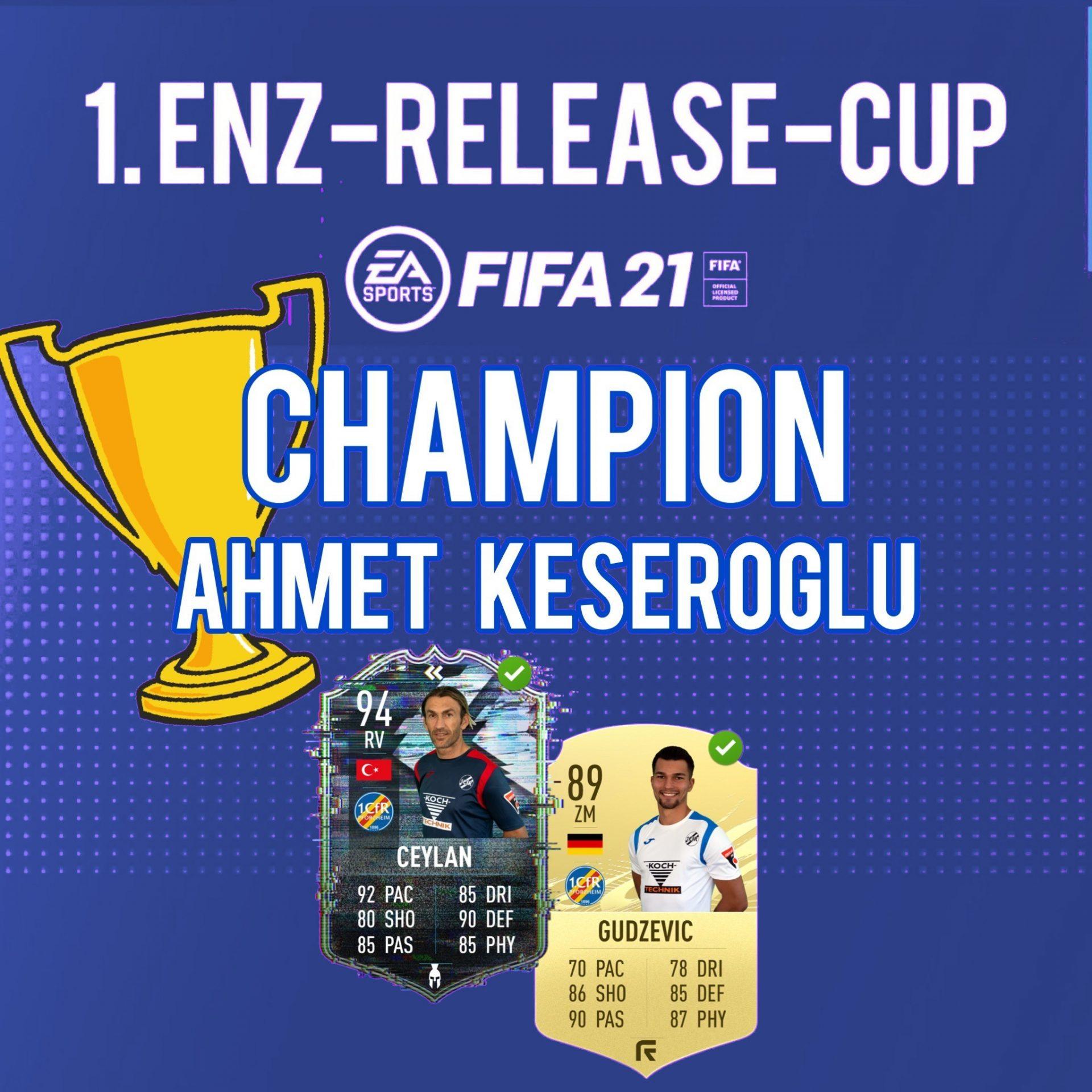 1. Enz-Release-Cup – Ahmet Keseroglu aus Stuttgart setzt sich die virtuelle Krone auf