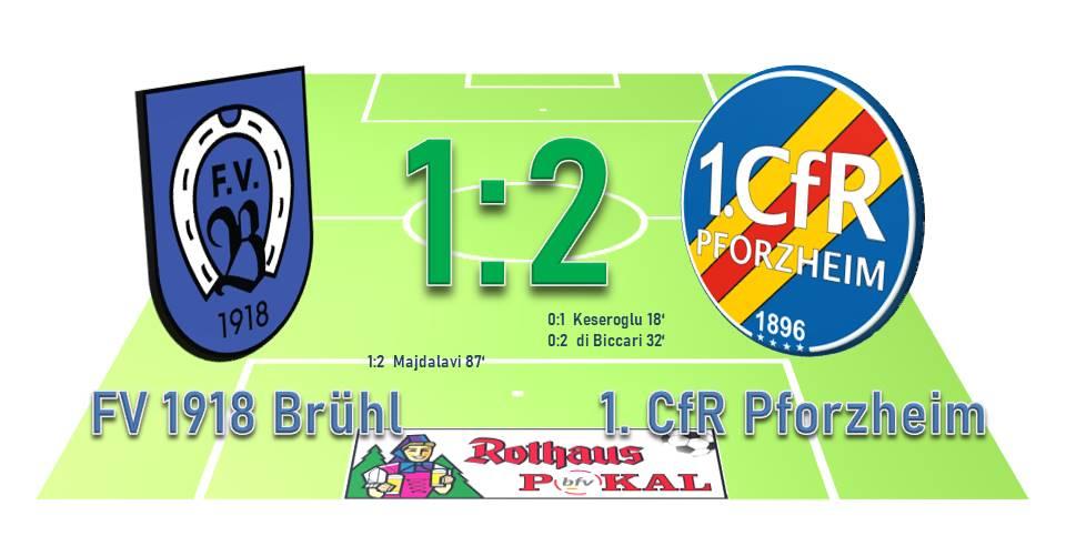 2:1-Sieg beim FV Brühl – 1. CfR steht im Achtelfinale des bfv-Rothauspokals