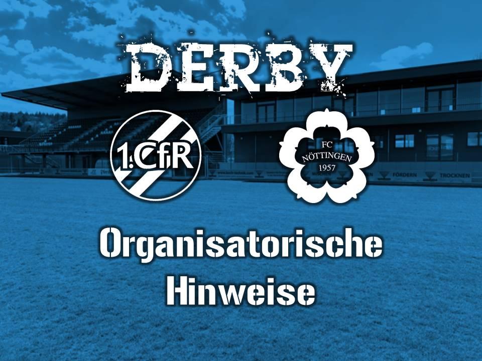 Organisatorische Hinweise zum Derby am Mittwoch
